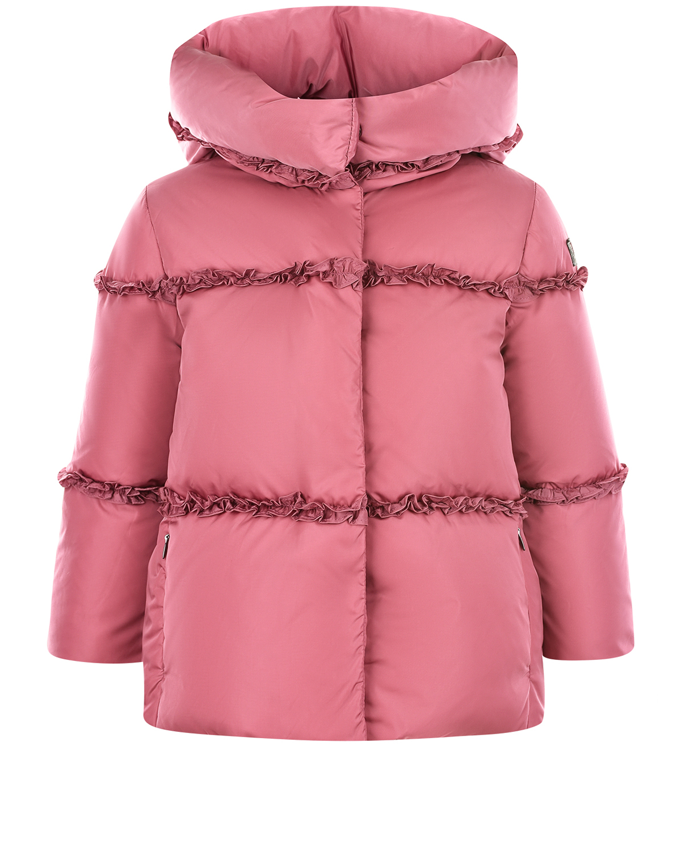 Купить Розовая куртка-пуховик с оборками IL Gufo