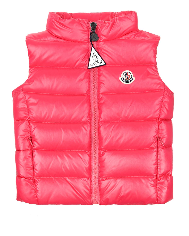 Купить Розовый приталенный жилет Ghany Moncler детский, 100%полиамид, 90%пух+10%перо
