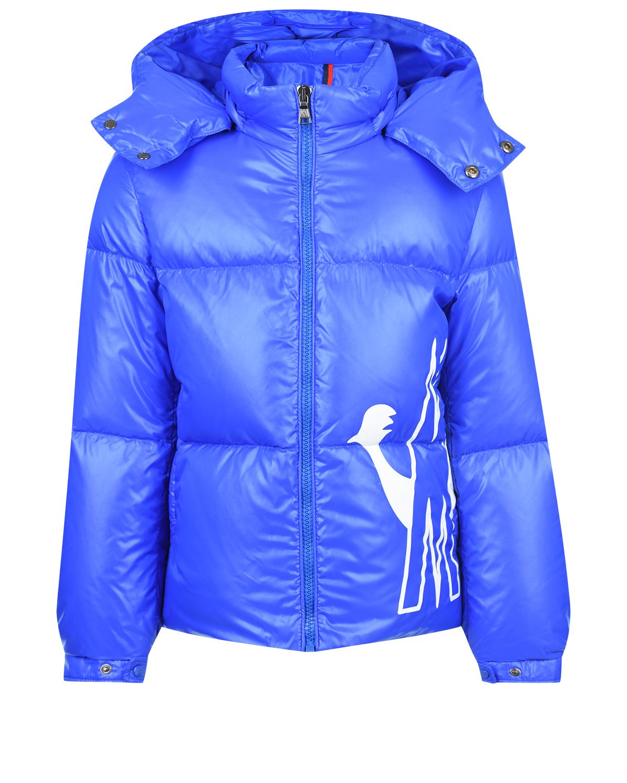 Купить Синий пуховик Friesian с капюшоном Moncler детский, 100%полиамид, 90%пух+10%перо