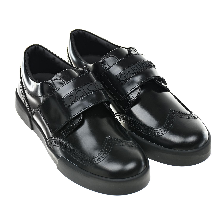 Черные туфли на липучке Dolce&Gabbana детские