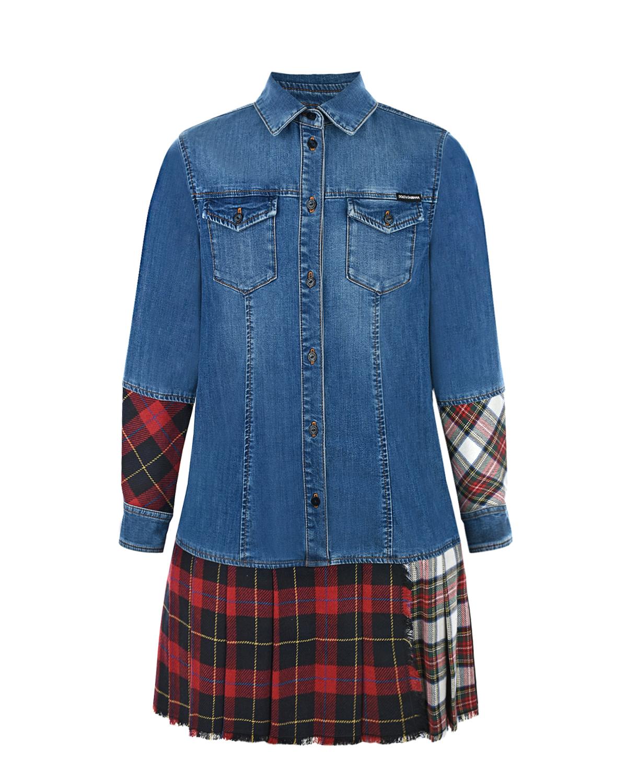 Купить Платье-рубашка с длинными рукавами Dolce&Gabbana