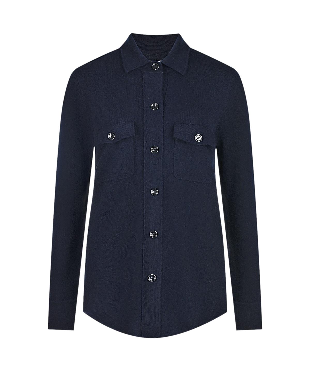 Купить Синяя рубашка из шерсти и кашемира Allude, Нет цвета, 70%шерсть+30%кашемир
