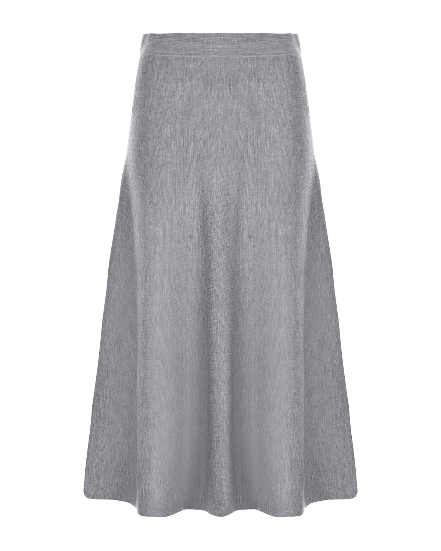 Купить Серая юбка миди из шерсти Allude, Серый, 100%шерсть
