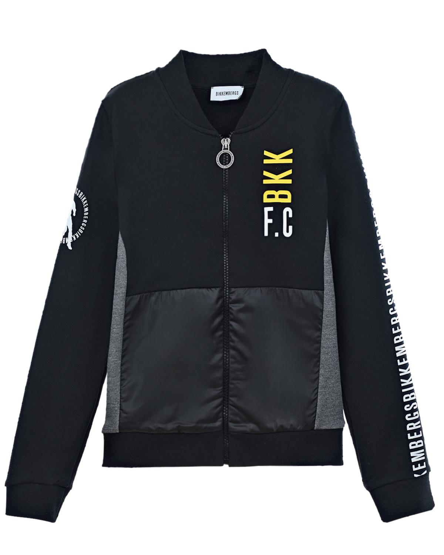 Купить Спортивная куртка с логотипом на рукавах Bikkembergs детская, Нет цвета, 100% хлопок