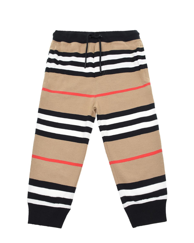 Купить Спортивные брюки в полоску Burberry детские, Бежевый, 100%хлопок