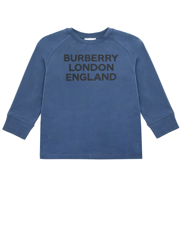 Купить Синяя толстовка с принтом burberry london england детская, Нет цвета, 100%хлопок, 97%хлопок+3%эластан