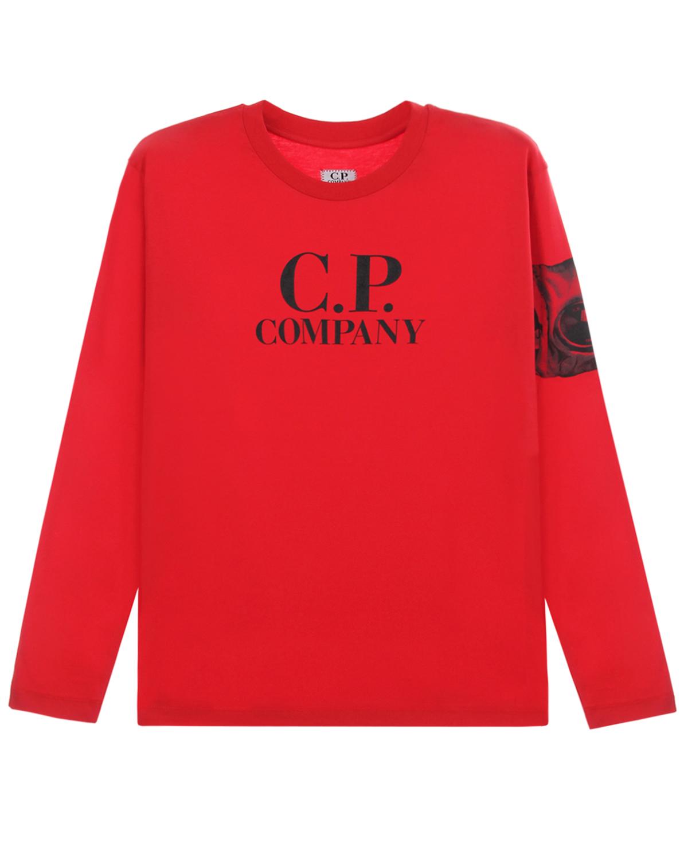Купить Красная толстовка с логотипом CP Company детская, Красный, 100%хлопок