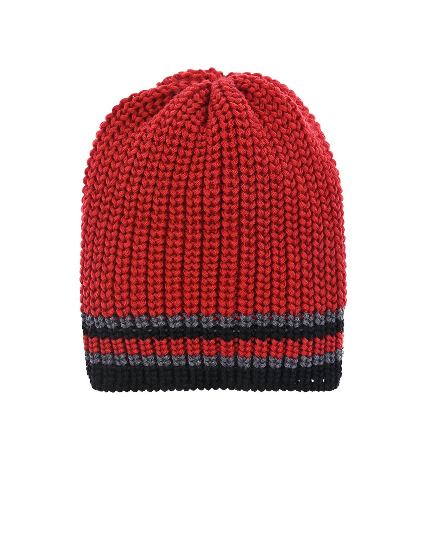 Купить Красная шапка с полосками Catya детская, Красный, 100% шерсть