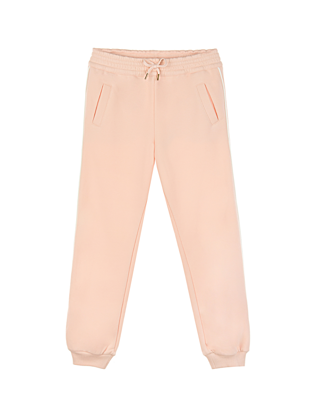 Купить Розовые спортивные брюки с карманами Chloe детские, Розовый, 100%хлопок, 99%хлопок+1%эластан, 88%хлопок+12%полиэстер