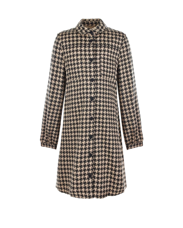 Купить Бежевое платье в черную клетку Dior детское, Мультиколор, 100%лиоцелл, 100%хлопок