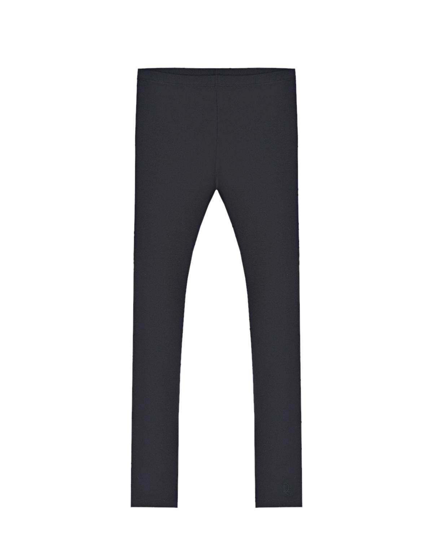 Купить Однотонные черные леггинсы Dior детские, Черный, 94% хлопок+6% эластан