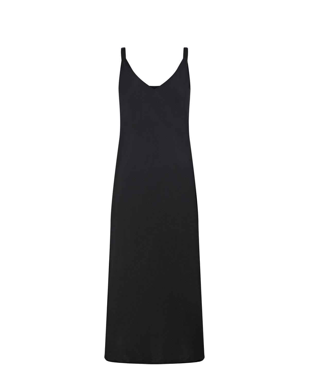 Черное платье-комбинация из шелка Dan Maralex цвет нет цвета