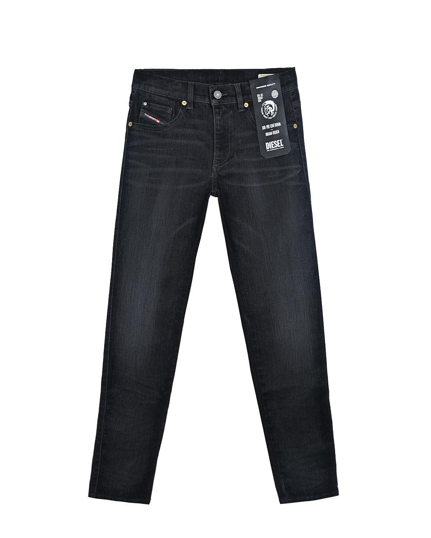 Купить Черные джинсы для девочек Diesel детские, Черный, 85% хлопок+12% вискоза+3% эластан