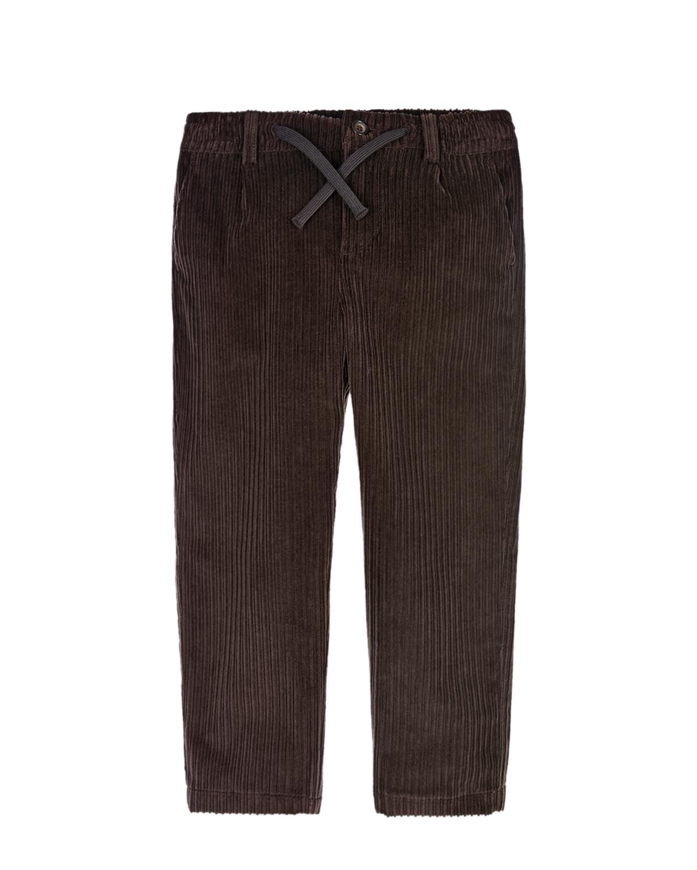 Купить Вельветовые брюки с поясом на кулиске Dolce&Gabbana детские, Коричневый, 98%хлопок+2%эластан, 100%полиэстер