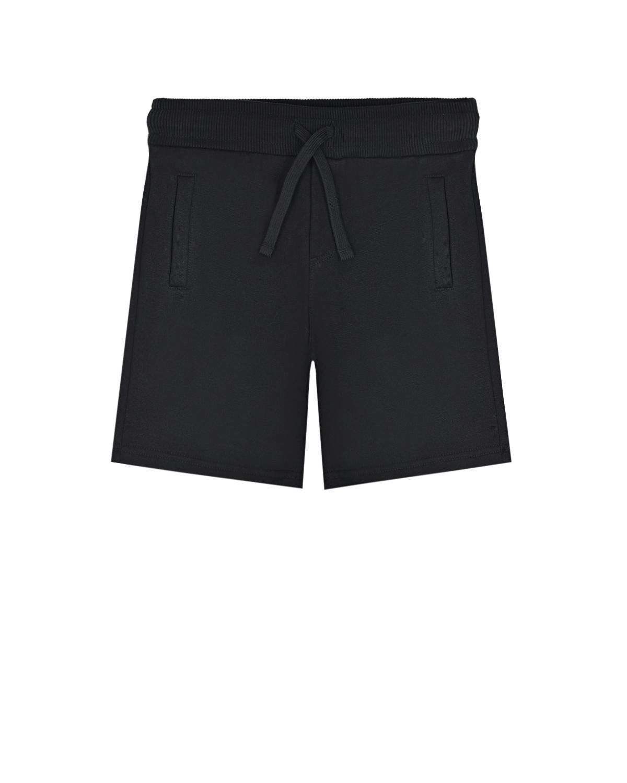 Купить Черные бермуды для мальчиков Dolce&Gabbana детские, Черный, 100%хлопок, 95%хлопок+5%эластан