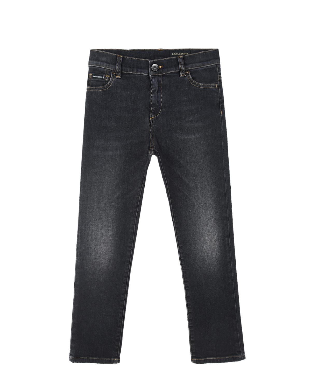 Темно-серые джинсы slim Dolce&Gabbana детское, Серый, 98%хлопок+2%эластан  - купить со скидкой
