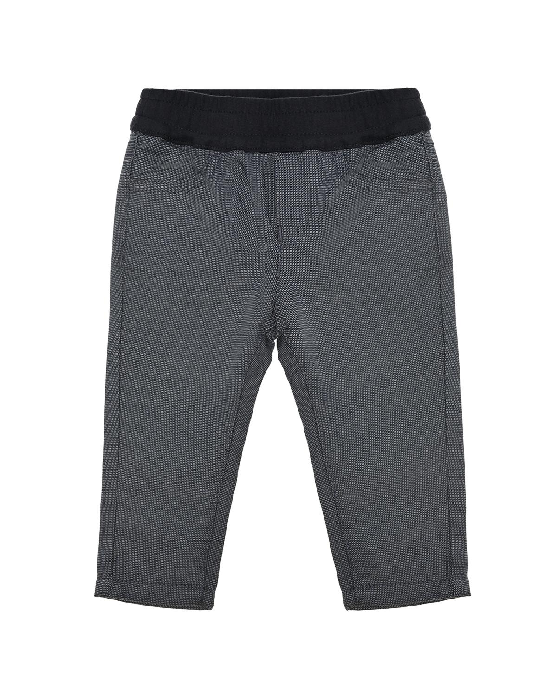 Купить Серые брюки с поясом на резинке Emporio Armani детские, Серый, 100%хлопок, 98%хлопок+2%эластан, 86%хлопок+14%полиэстер
