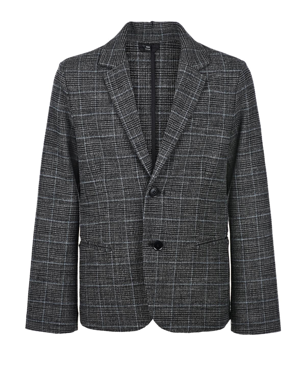 Купить Серый пиджак в клетку Emporio Armani детский, Нет цвета, 61%вискоза+37%полиэстер+2%эластан