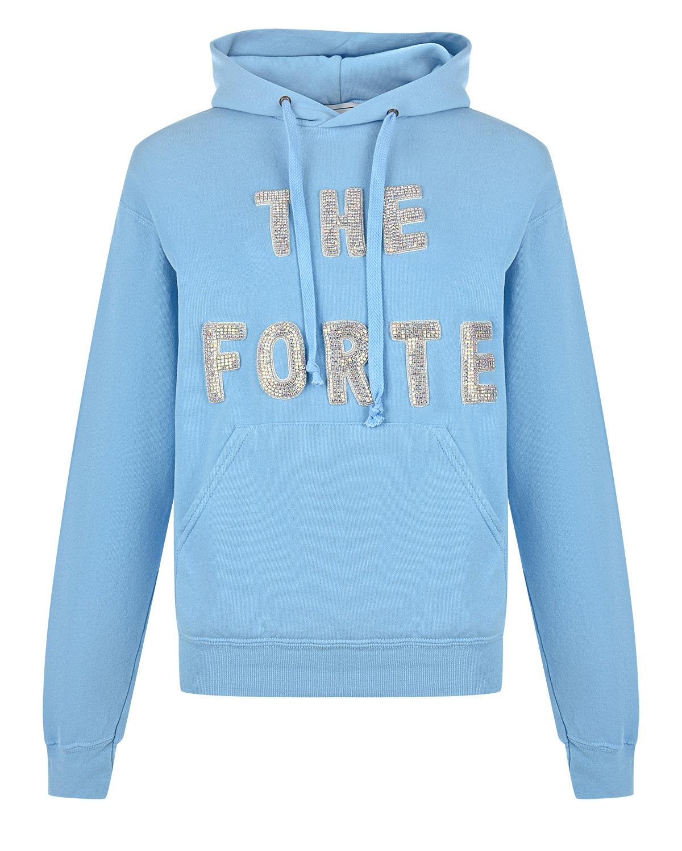Голубая толстовка с декором из страз Forte dei Marmi Couture.