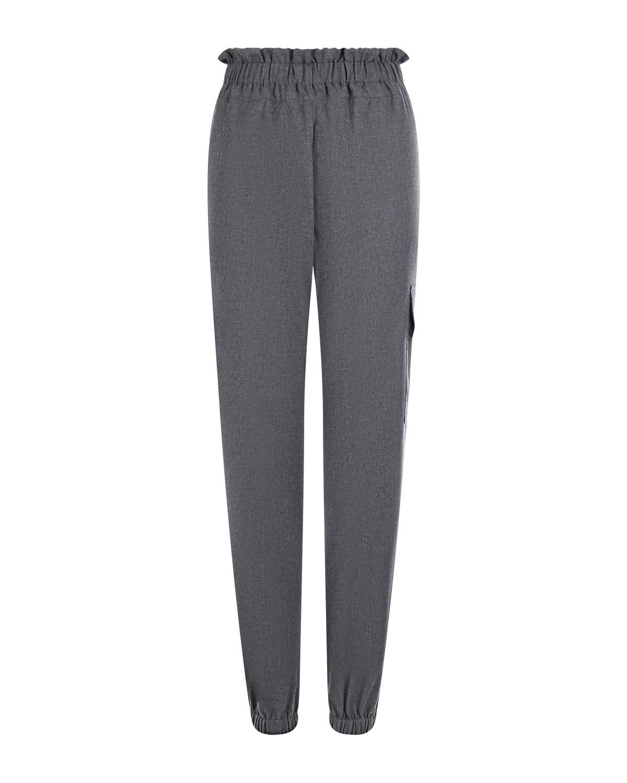 Серые брюки с карманом карго Forte dei Marmi Couture.