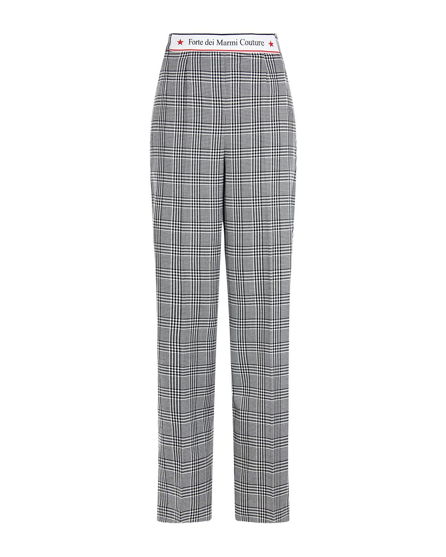 Прямые брюки в клетку Forte dei Marmi Couture.
