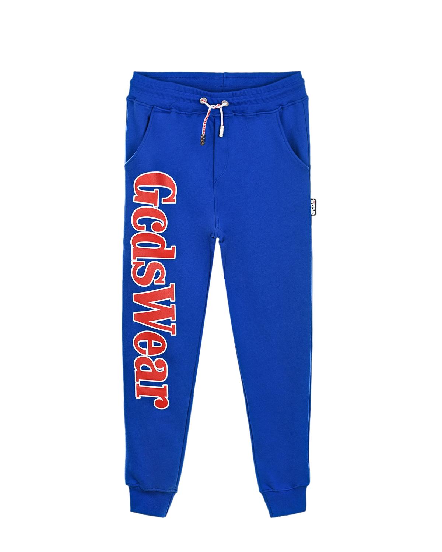 Купить Спортивные брюки синего цвета GCDS детские, Синий, 100% хлопок