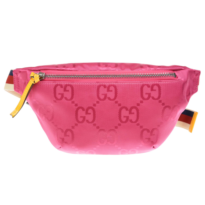 Купить Сумка-пояс цвета фуксии, 21x12x4 см GUCCI детская, Розовый, 100%нейлон, 100%нат.кожа
