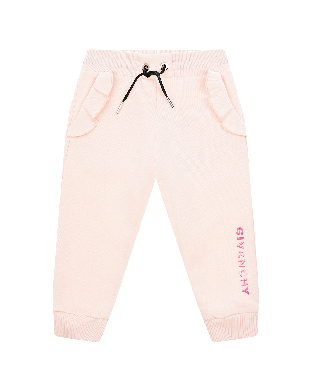 Купить Спортивные брюки с оборками на карманах Givenchy детские, Нет цвета, 86% хлопок+14% полиэстер, 98% хлопок+2% эластан, 100% хлопок