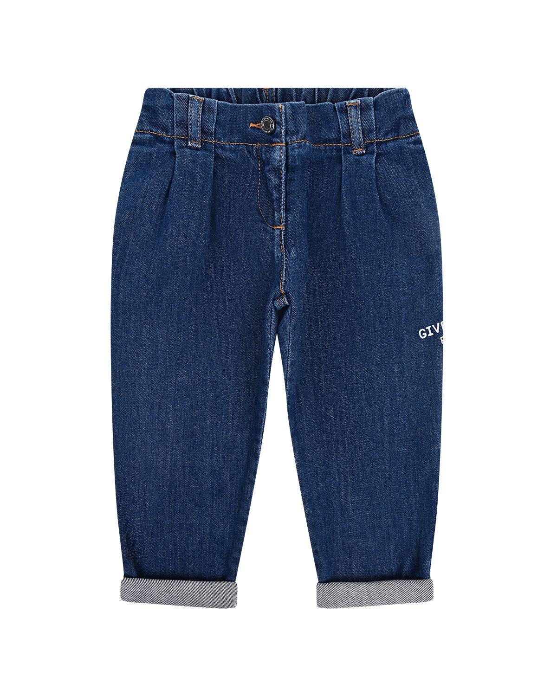 Купить Синие джинсы с вышивкой Givenchy детские, Голубой, 98%хлопок+2%эластан, 65%полиэстер+35%хлопок