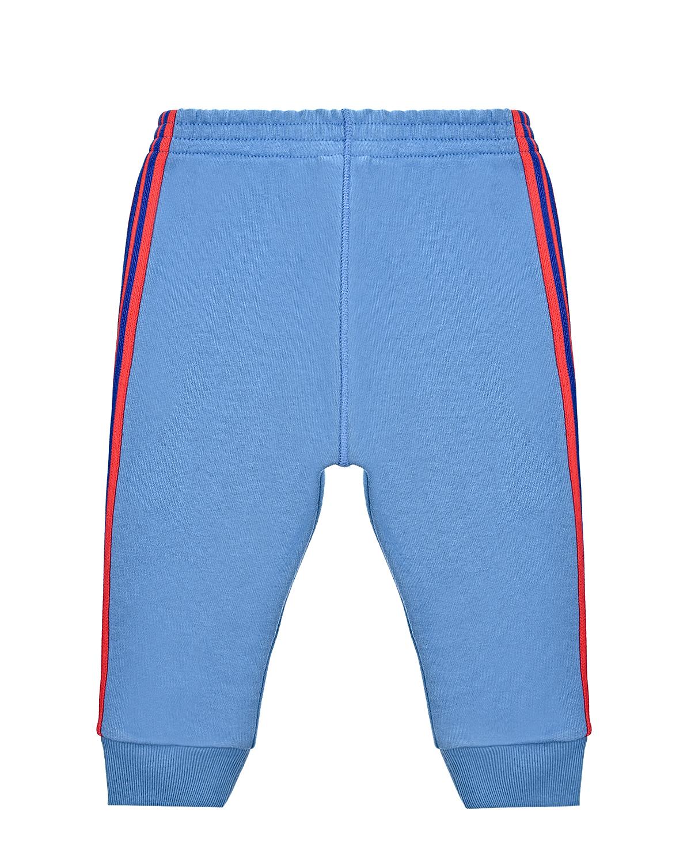 Купить Спортивные брюки с лампасами в полоску GUCCI детские, Голубой, 100%хлопок, 100%полиэстер