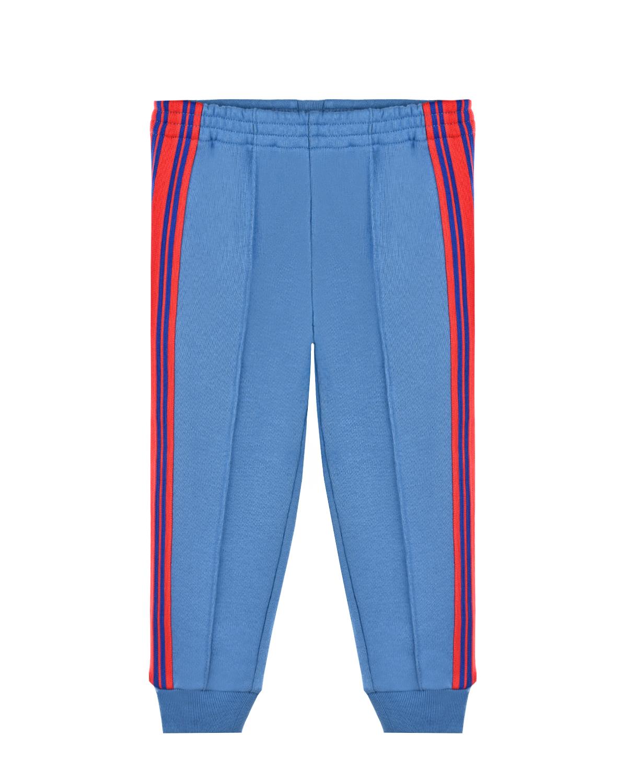Купить Голубые спортивные брюки с лампасами GUCCI детские, Голубой, 100%хлопок, 100%полиэстер