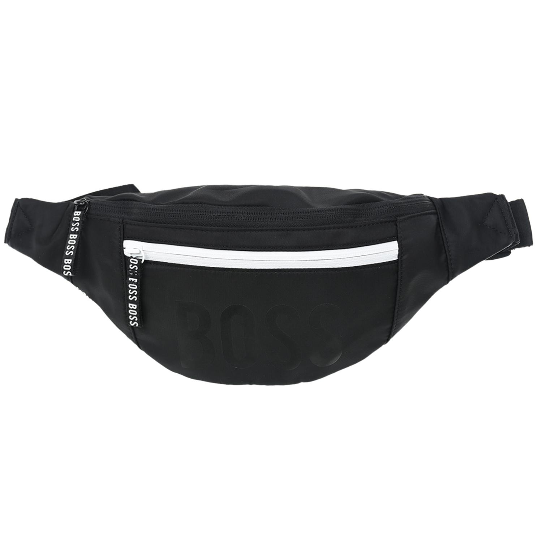 Купить Черная сумка-пояс с логотипом, 27x16x7 см Hugo Boss детская, Черный, 100%полиэстер