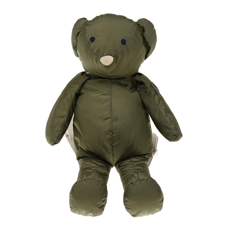 Купить Рюкзак в форме медвежонка 11х11х38 см IL Gufo детский, Зеленый, 100%полиамид, 100%полиэстер