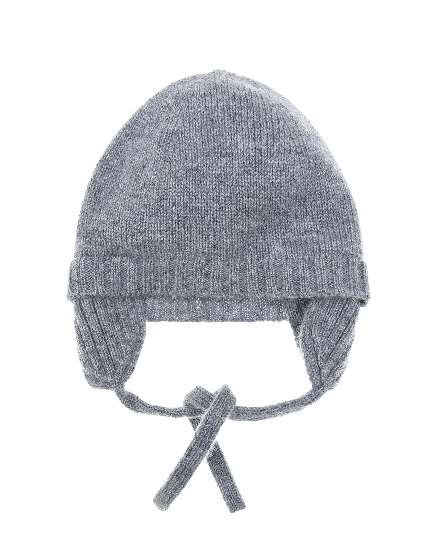Купить Серая шапка из кашемира IL Gufo детская, Серый, 100%кашемир