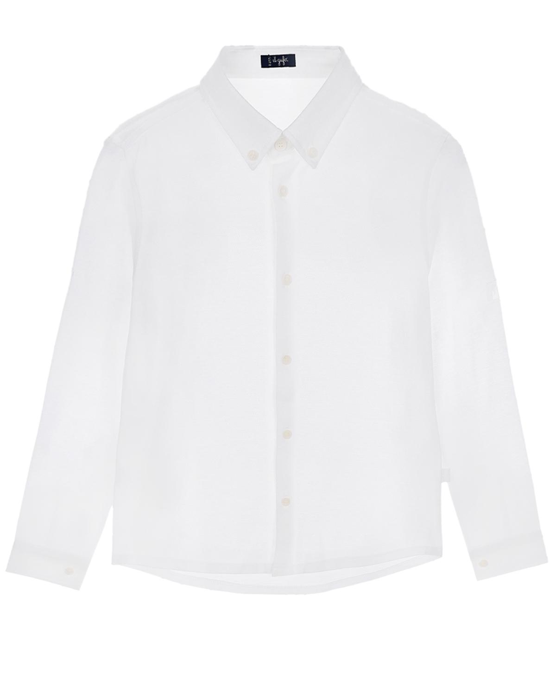 Купить Белая рубашка для мальчиков IL Gufo детская, Белый, 100%хлопок