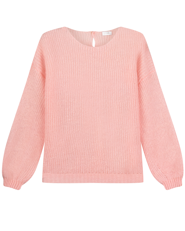 Купить Розовый джемпер с объемными рукавами IL Gufo детский, 50%мохер+32%полиамид+18%шерсть