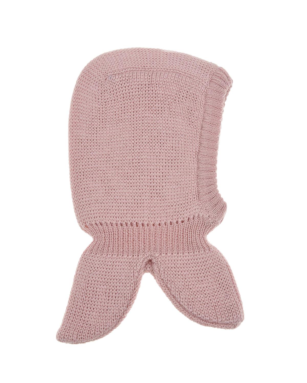 Купить Розовая шапка из шерсти с патчем пудель Il Trenino детская, Розовый, 100%шерсть