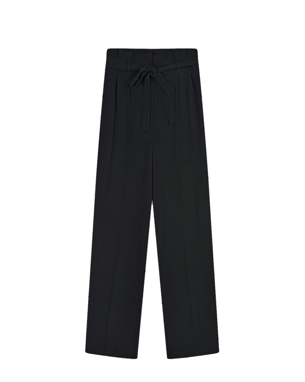 Купить Черные брюки прямого кроя Les Coyotes de Paris детские, Черный, 100%полиэстер, 100%хлопок