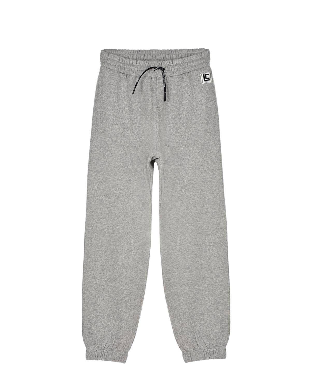 Купить Серые спортивные брюки с поясом на кулиске Les Coyotes de Paris детские, Серый, 100%хлопок