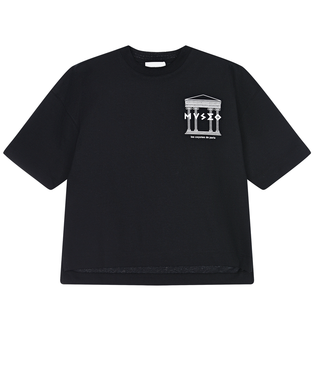 Купить Черная футболка с принтом museo Les Coyotes de Paris детская, Черный, 100%хлопок