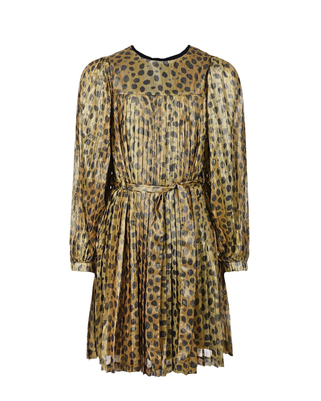 Купить Платье с леопардовым принтом Little Marc Jacobs детское, Нет цвета, 100%полиэстер, 100%вискоза