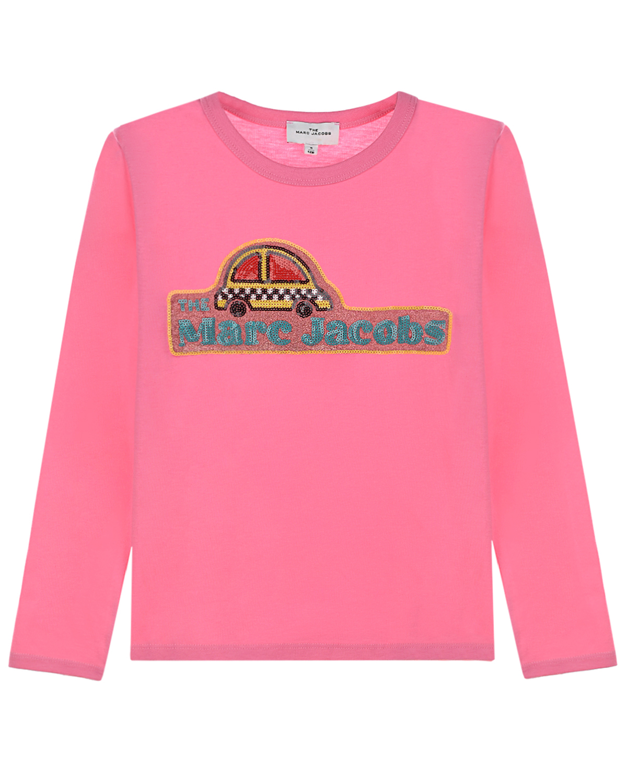 Купить Розовая толстовка с принтом Такси Little Marc Jacobs детская, Розовый, 100%хлопок, 95%хлопок+5%эластан