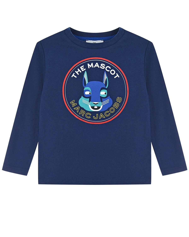 Купить Синяя толстовка с принтом заяц Little Marc Jacobs детская, Синий, 100%хлопок