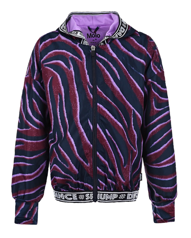 Купить Спортивная с принтом в полоску Molo детская, Фиолетовый, 100%полиэстер