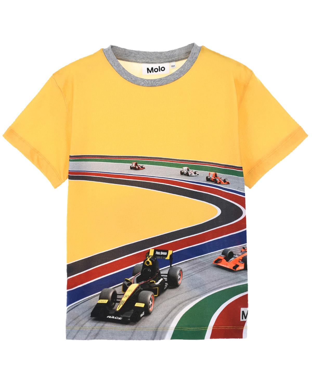 Купить Желтая футболка Raveno Full Speed Curve Molo детская, Желтый, 100%хлопок