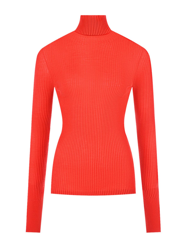 Купить Красная водолазка с разрезами на рукавах MRZ, Красный, 100%шерсть