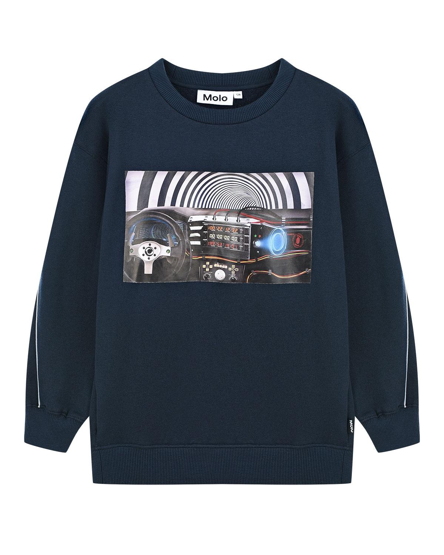 Купить Темно-синий свитшот Mozy Molo детское, Синий, 100%хлопок
