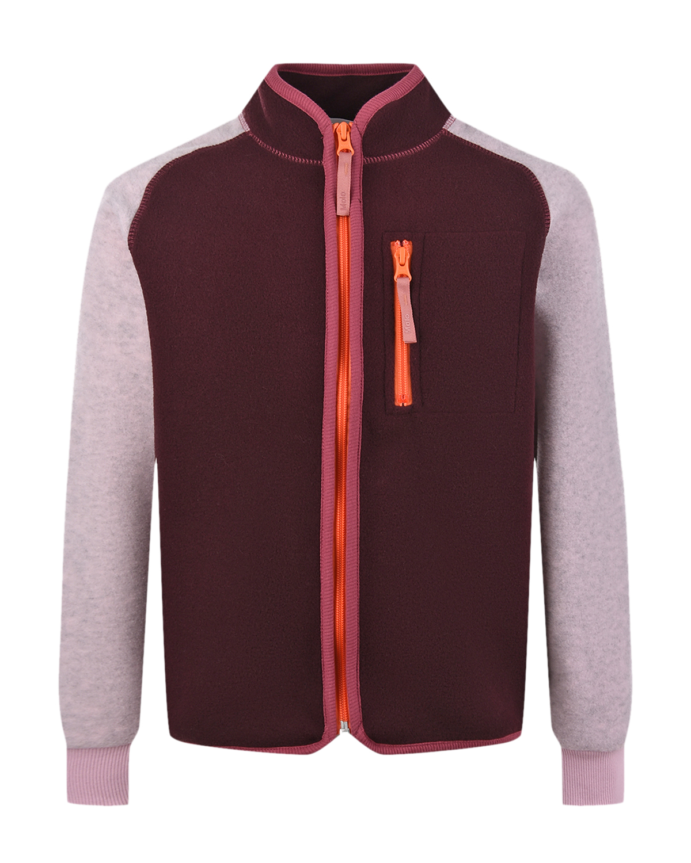 Купить Спортивная куртка из флиса Molo детская, Бордовый, 100%полиэстер
