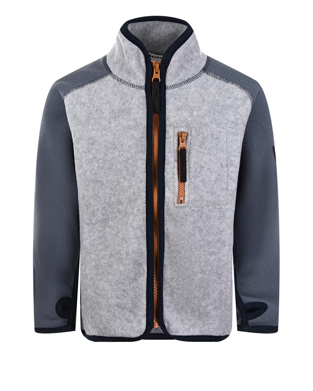 Купить Серая спортивная куртка Molo детская, Серый, 100%полиэстер