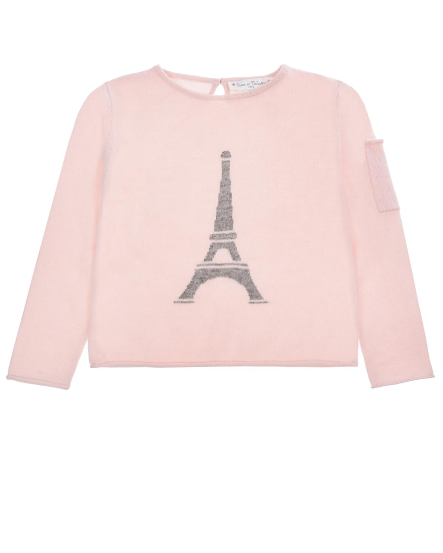 Купить Джемпер из кашемира с принтом Eiffel Tower Osсar et Valentine детский, Мультиколор, 100% кашемир